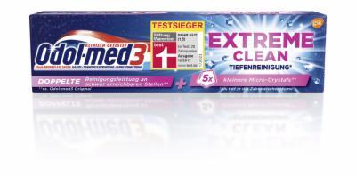 ODOL MED 3 Extreme Clean Zahnpasta Tiefenreinigung